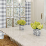 NW34508 picnic plaid peel and stick removable wallpaper kitchen by NextWall