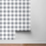NW34508 picnic plaid peel and stick removable wallpaper roll by NextWall