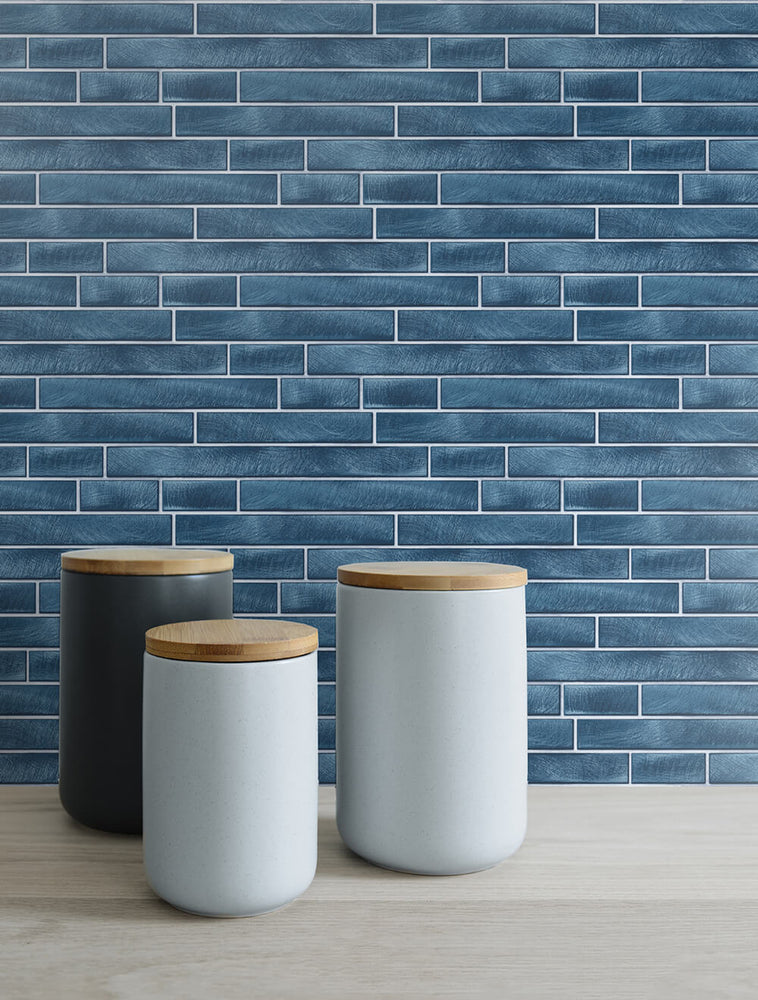 NW34602 brushed metal tile peel and stick removable wallpaper decor by NextWall