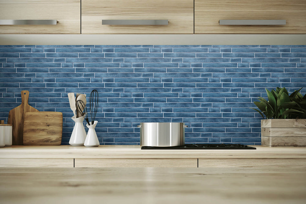 NW34602 brushed metal tile peel and stick removable wallpaper backsplash by NextWall