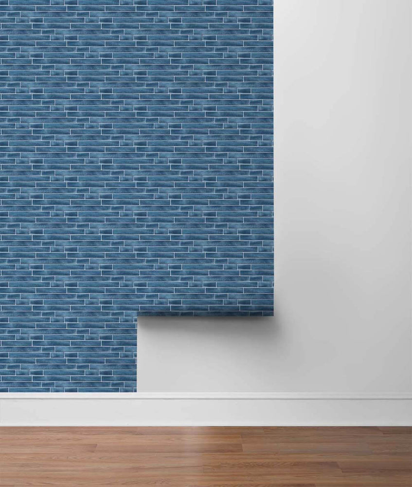 NW34602 brushed metal tile peel and stick removable wallpaper roll by NextWall