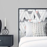 NW34701 kaleidoscope geometric peel and stick removable wallpaper bedroom by NextWall