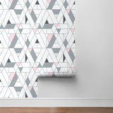 NW34701 kaleidoscope geometric peel and stick removable wallpaper roll by NextWall