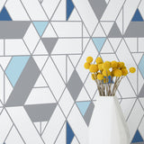 NW34702 kaleidoscope geometric peel and stick removable wallpaper decor by NextWall