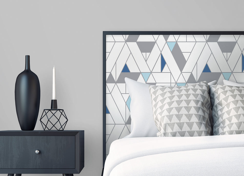 NW34702 kaleidoscope geometric peel and stick removable wallpaper bedroom by NextWall