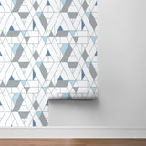 NW34702 kaleidoscope geometric peel and stick removable wallpaper roll by NextWall