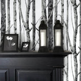 NW34800 birch tree peel and stick removable wallpaper decor by NextWall