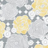 NW35203 retro floral peel and stick removable wallpaper by NextWall