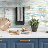 NW35306 brushed stripe abstract peel and stick removable wallpaper backsplash by NextWall