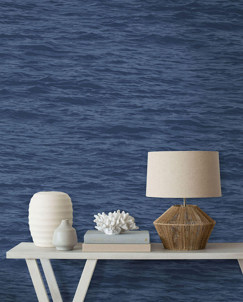 NW35902 serene sea coastal peel and stick removable wallpaper decor by NextWall