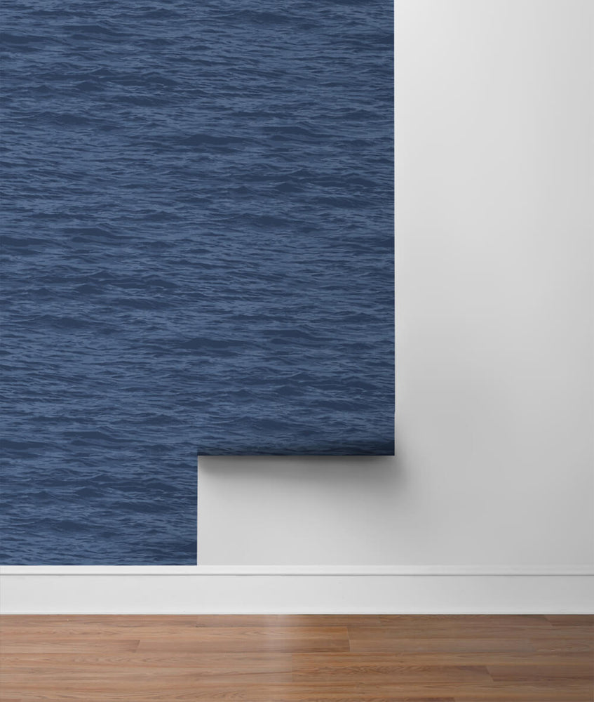 NW35902 serene sea coastal peel and stick removable wallpaper roll by NextWall