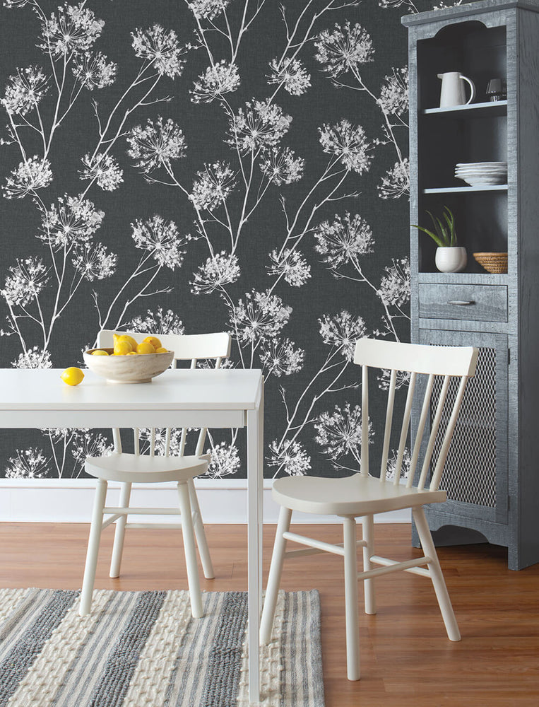 NW36000 one o'clock botanical peel and stick removable wallpaper kitchen from NextWall