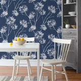 NW36002 one o'clock botanical peel and stick removable wallpaper kitchen from NextWall