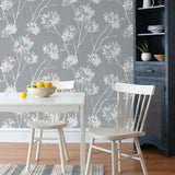 NW36008 one o'clock botanical peel and stick removable wallpaper kitchen from NextWall