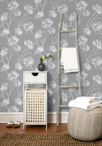 NW36008 one o'clock botanical peel and stick removable wallpaper decor from NextWall