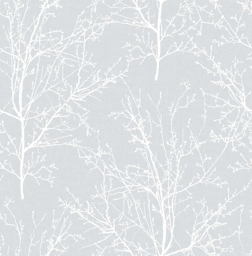 NW36108 gray tree branch botanical peel and stick removable wallpaper by NextWall