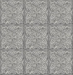 NW36200 faux embossed tile peel and stick removable wallpaper from NextWall
