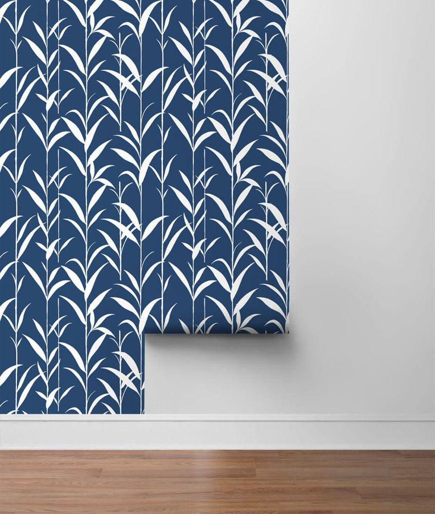 NW36402 bamboo leaf botanical peel and stick removable wallpaper roll by NextWall