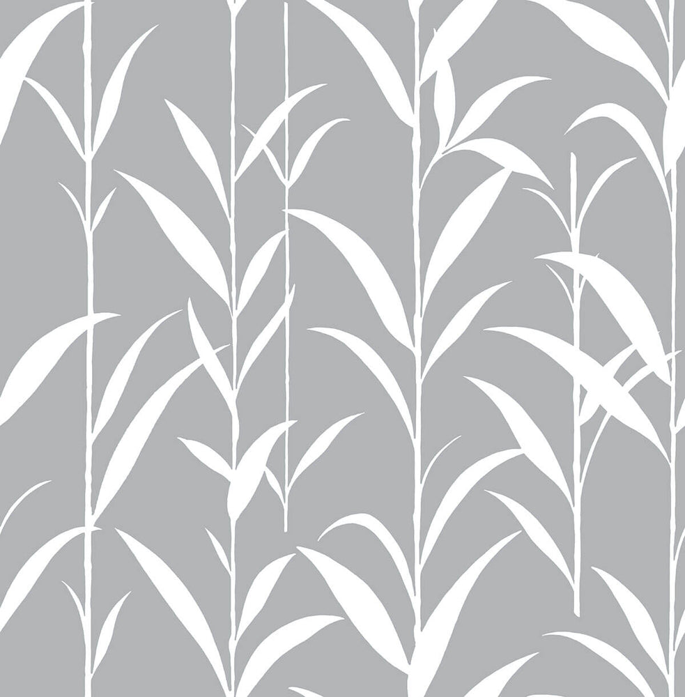 NW36408 bamboo leaf botanical peel and stick removable wallpaper by NextWall