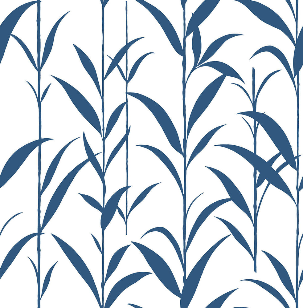 NW36412 bamboo leaf botanical peel and stick removable wallpaper by NextWall