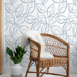 NW36502 tossed leaves botanical peel and stick removable wallpaper decor by NextWall