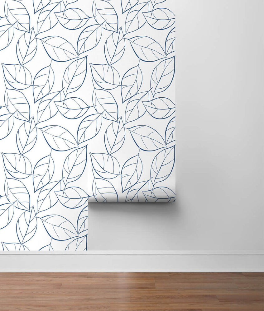 NW36502 tossed leaves botanical peel and stick removable wallpaper roll by NextWall