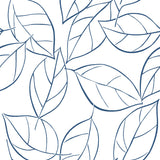 NW36502 tossed leaves botanical peel and stick removable wallpaper by NextWall