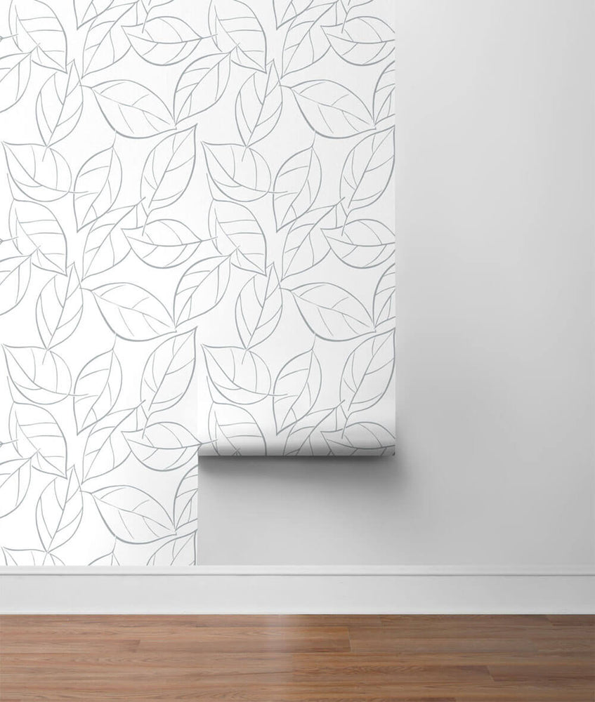 NW36508 tossed leaves botanical peel and stick removable wallpaper roll by NextWall