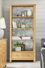 NW36608 chinoiserie silhouette botanical peel and stick wallpaper bookcase from NextWall