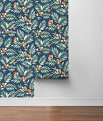 NW36702 citrus branch botanical peel and stick wallpaper roll from NextWall