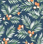 NW36702 citrus branch botanical peel and stick wallpaper from NextWall