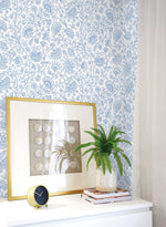 NW36802 paisley trail bohemian peel and stick removable wallpaper decor from NextWall