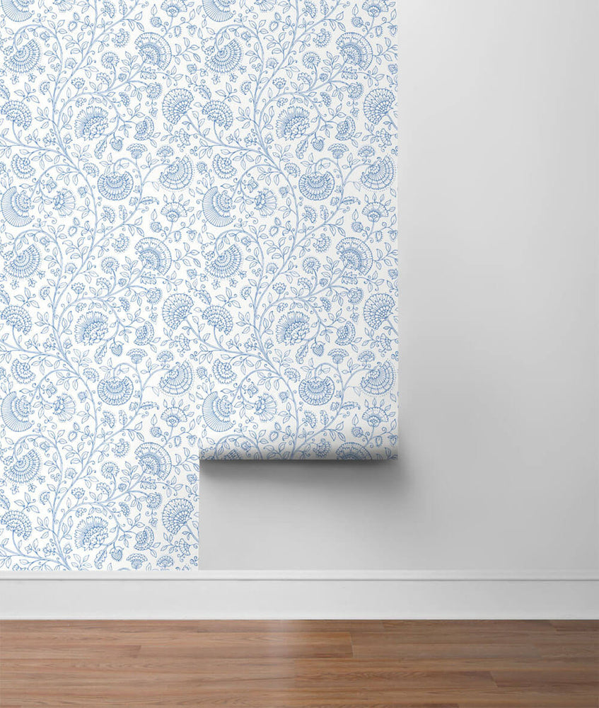 NW36802 paisley trail bohemian peel and stick removable wallpaper roll from NextWall