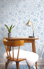 NW36802 paisley trail bohemian peel and stick removable wallpaper desk from NextWall