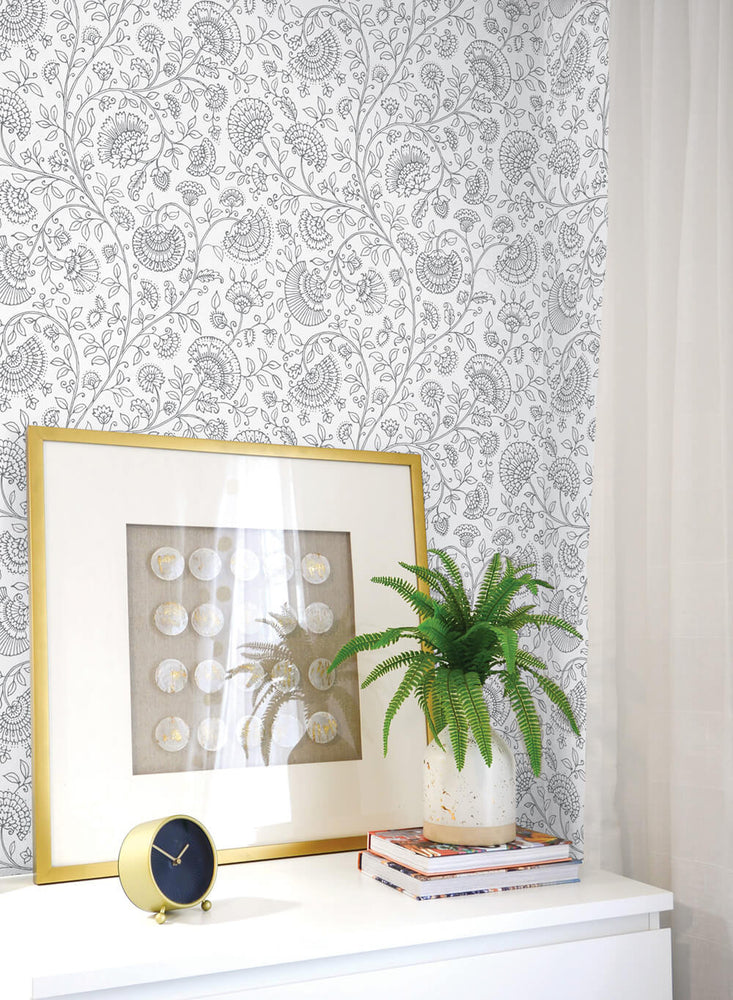 NW36808 paisley trail bohemian peel and stick removable wallpaper decor from NextWall