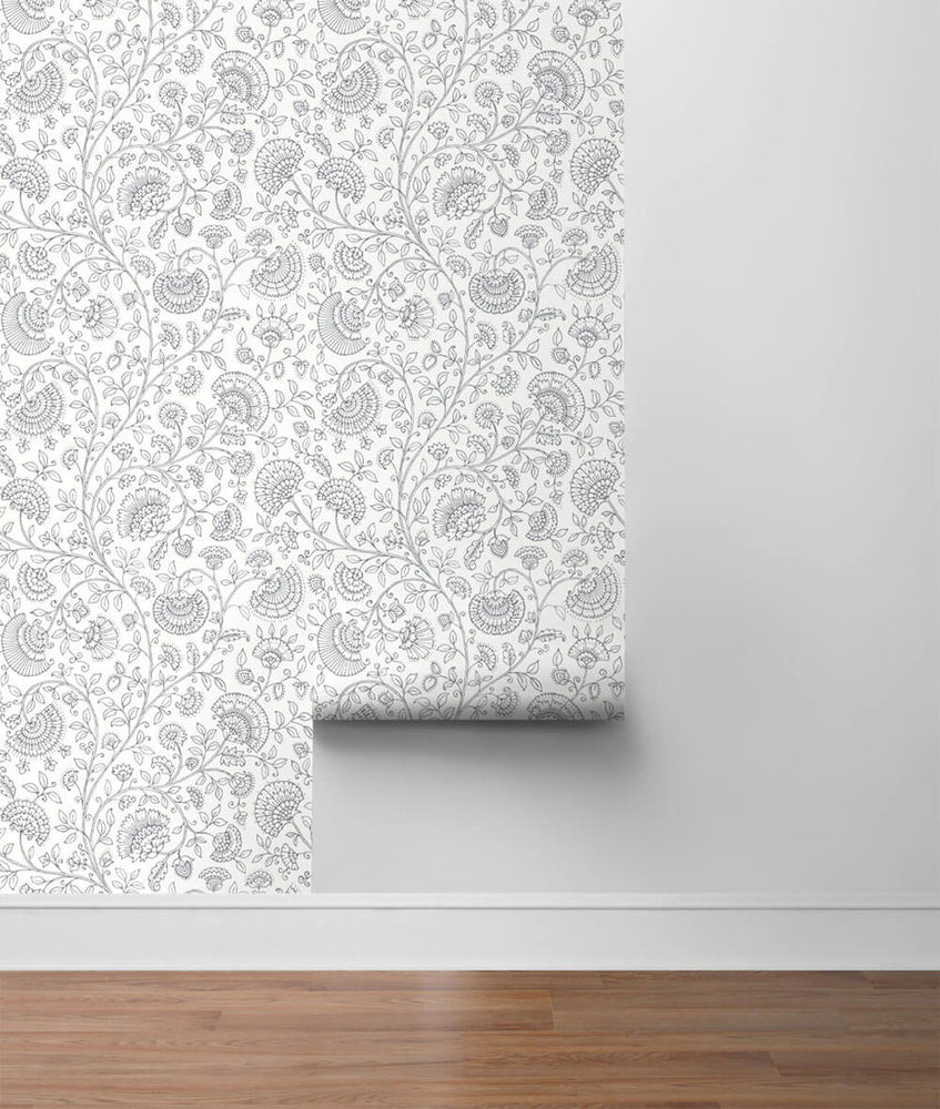 NW36808 paisley trail bohemian peel and stick removable wallpaper roll from NextWall