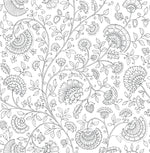NW36808 paisley trail bohemian peel and stick removable wallpaper from NextWall
