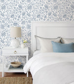 NW36812 paisley trail bohemian peel and stick removable wallpaper bedroom from NextWall