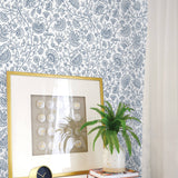 NW36812 paisley trail bohemian peel and stick removable wallpaper decor from NextWall