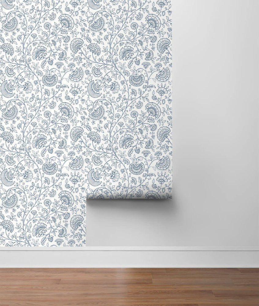 NW36812 paisley trail bohemian peel and stick removable wallpaper roll from NextWall