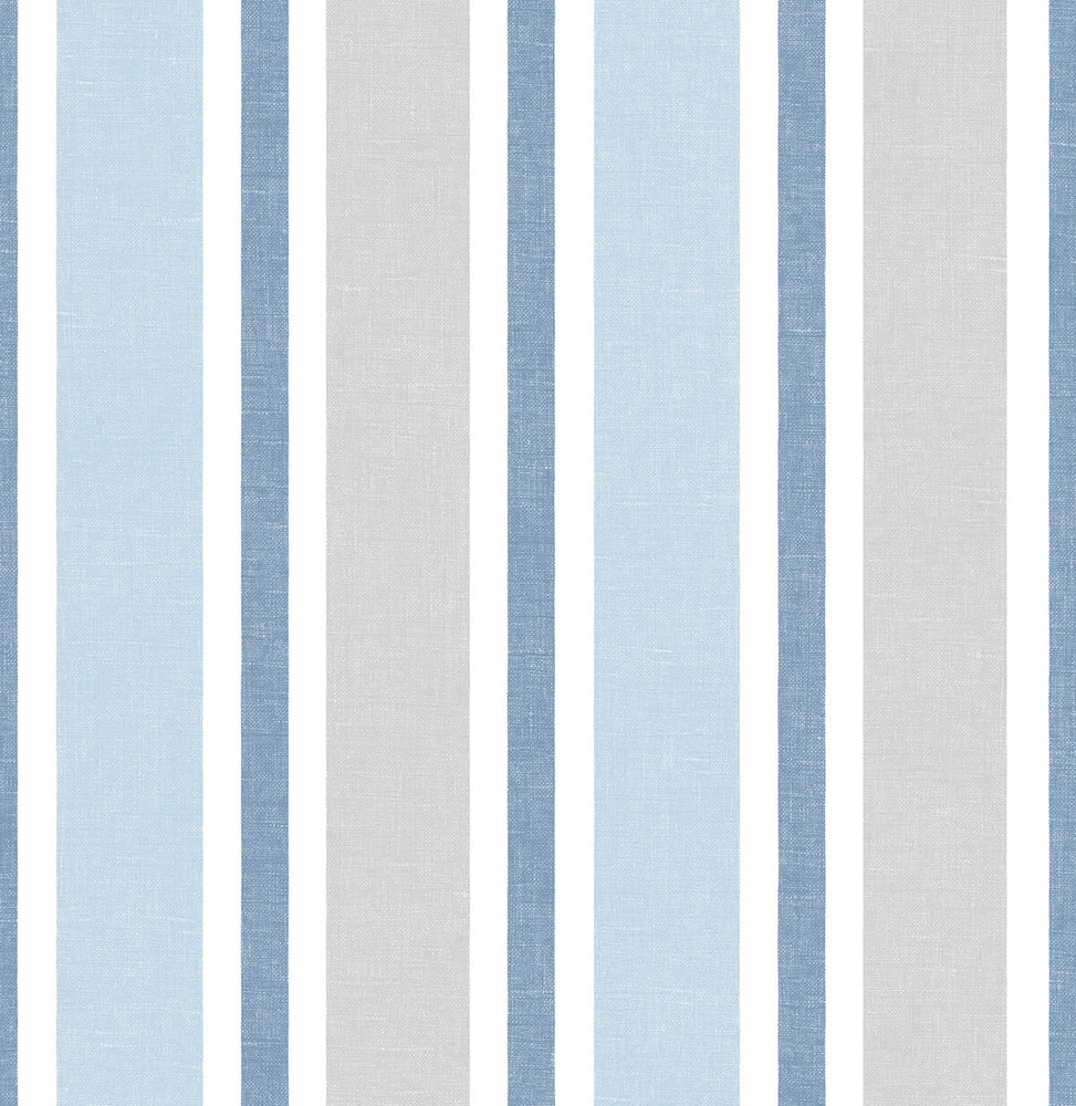 NextWall Linen Cut Stripe Peel and Stick Removable Wallpaper