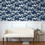 NW37202 cyprus blossom floral peel and stick removable wallpaper living room by NextWall