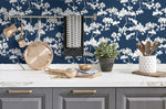 NW37202 cyprus blossom floral peel and stick removable wallpaper kitchen by NextWall