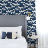 NW37202 cyprus blossom floral peel and stick removable wallpaper bedroom by NextWall