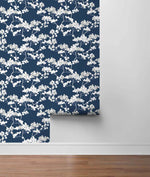 NW37202 cyprus blossom floral peel and stick removable wallpaper roll by NextWall