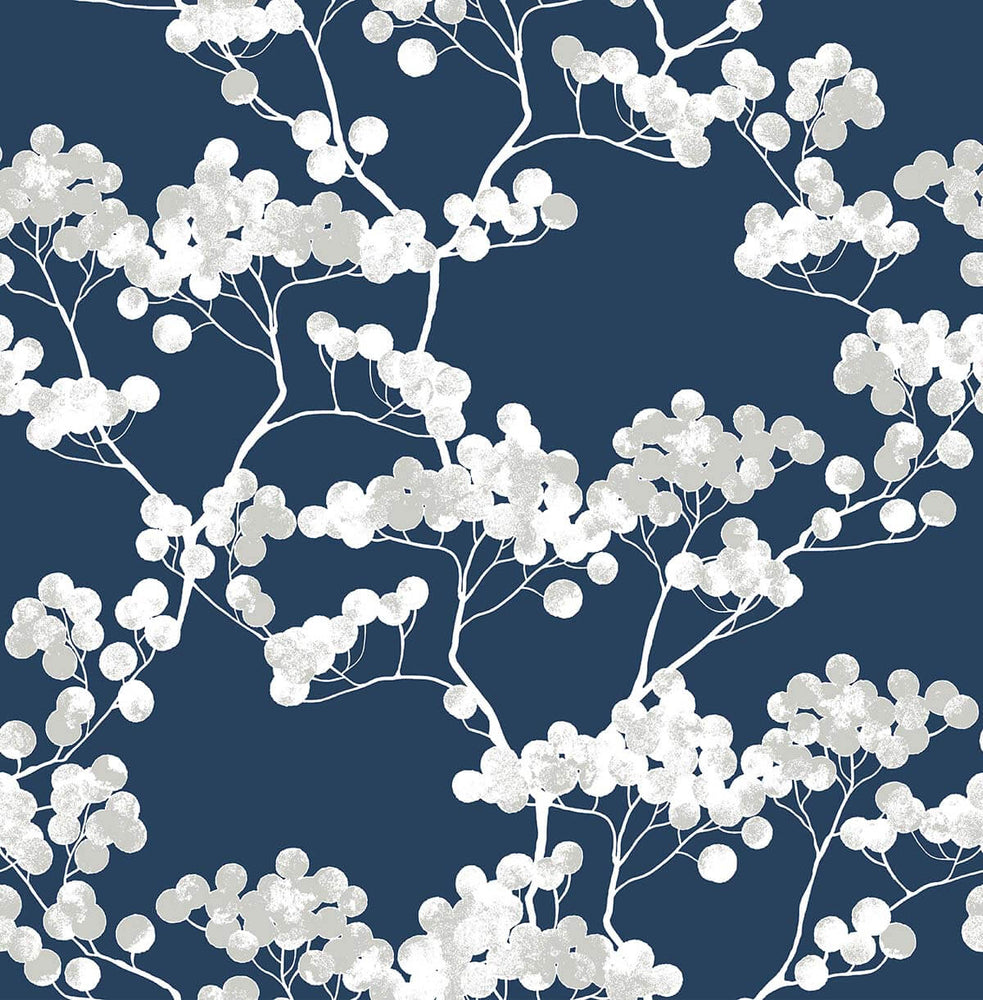 NW37202 cyprus blossom floral peel and stick removable wallpaper by NextWall