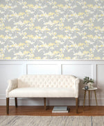 NW37203 cyprus blossom floral peel and stick removable wallpaper living room by NextWall