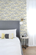 NW37203 cyprus blossom floral peel and stick removable wallpaper bedroom by NextWall