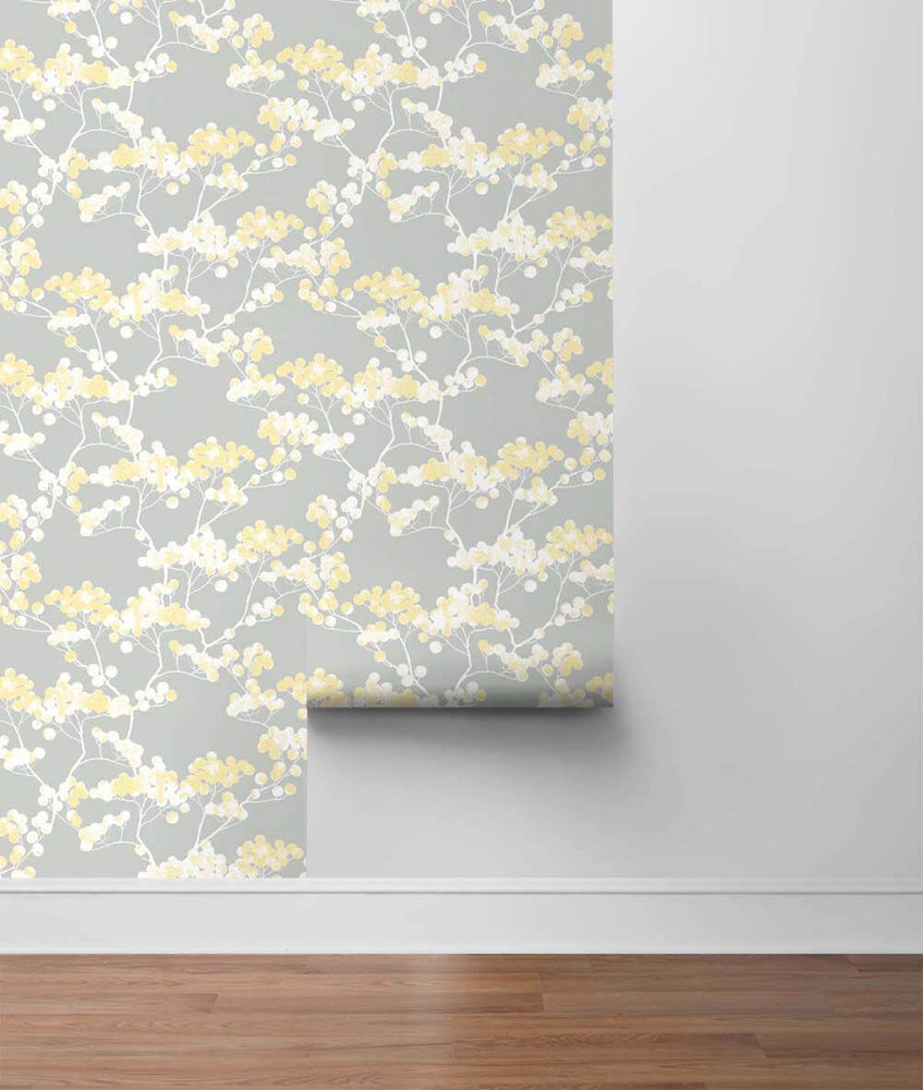 NW37203 cyprus blossom floral peel and stick removable wallpaper roll by NextWall
