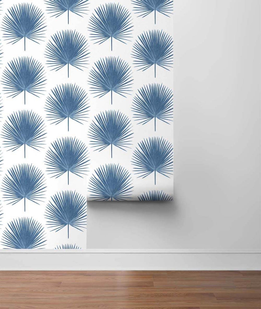 NW37502 palmetto palm tropical peel and stick removable wallpaper roll from NextWall